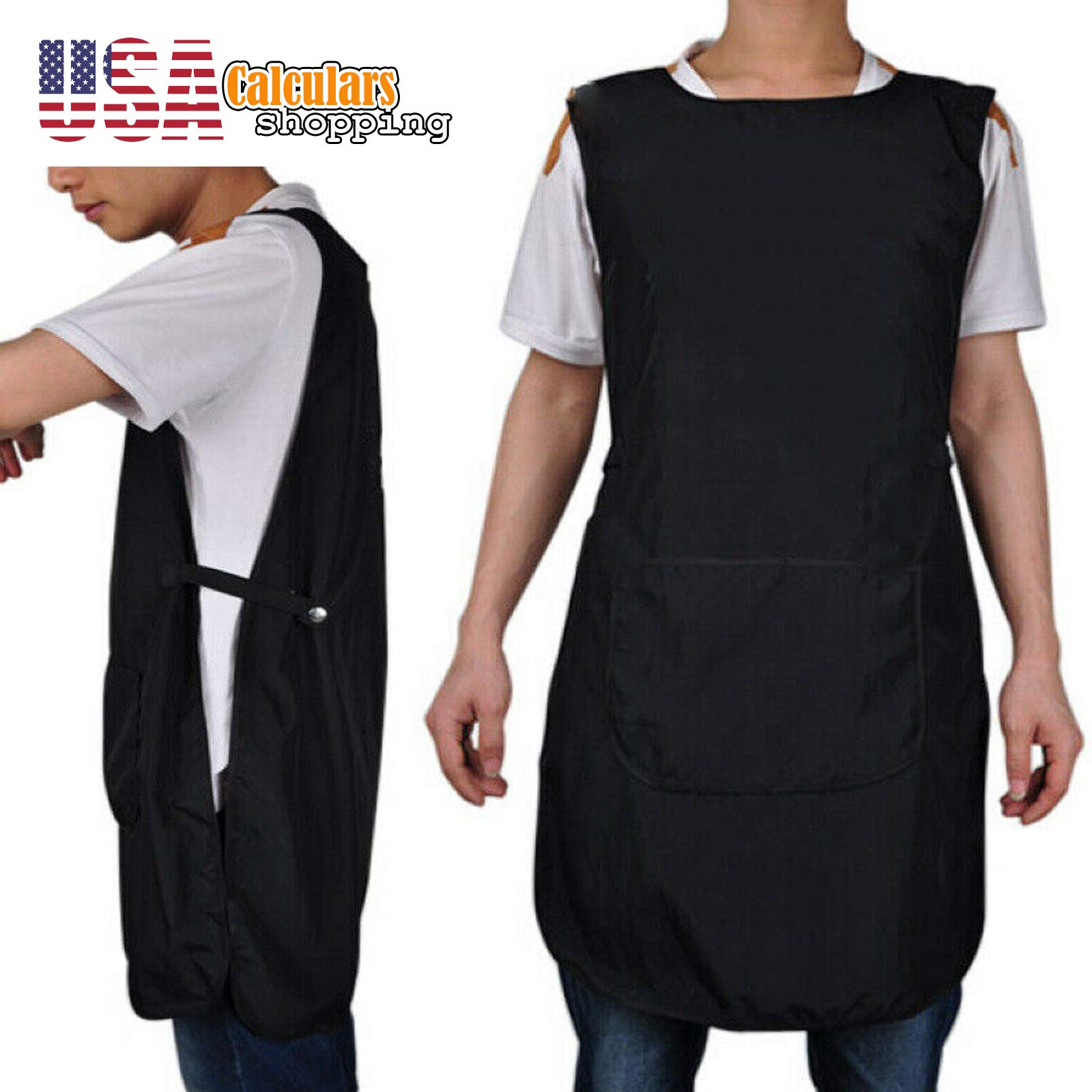 US Seller Front-Back Pro Salon Hair Cutting Apron Barber Hairdressing Gown Cape Cloth by Calculars