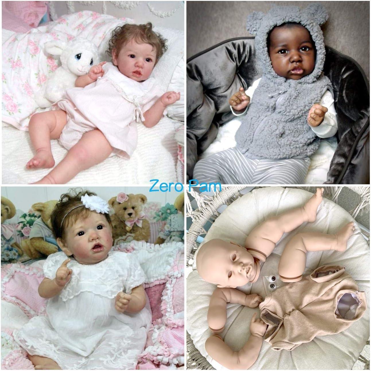 Blue Eyes Zero Pam Reborn Doll Kits 55cm 22 Inch Silicone Full Limbs and Soft Cloth Body Realistic DIY Doll
