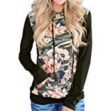 Amiley Sweatshirt Hoodie Women , Women Casual Autumn Camouflage Outdoor Printed Floral Long Sleeve Top Blouse
