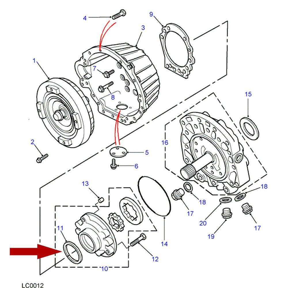 Transmission Oil Seal Part# RTC5102 BEARMACH OEM