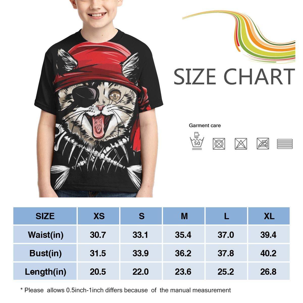 Boys Teenager 3D Skull T Shirt Active Sports Skull T-Shirt