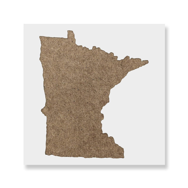 【メーカー直売】 Minnesota B07B5TMKBX Stateステンシルテンプレート Minnesota – 再利用可能なステンシルwith複数サイズあり 35