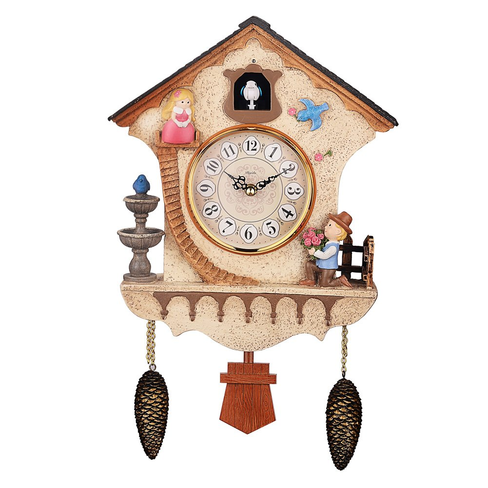 DIyida Vivid Large Cuckoo Clock、Wall Cuckoo Clock,chime has automatic Shut-Off [Kitchen & Home] dyd