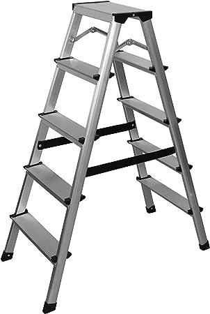 Aluminio Escalera – Escalera 5 Peldaños: Amazon.es: Bricolaje y ...
