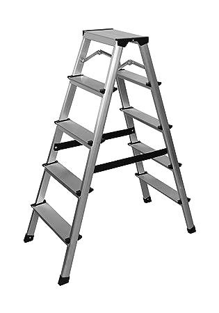 Relativ Aluminium Leiter Klappleiter 5 Stufen: Amazon.de: Baumarkt DD02