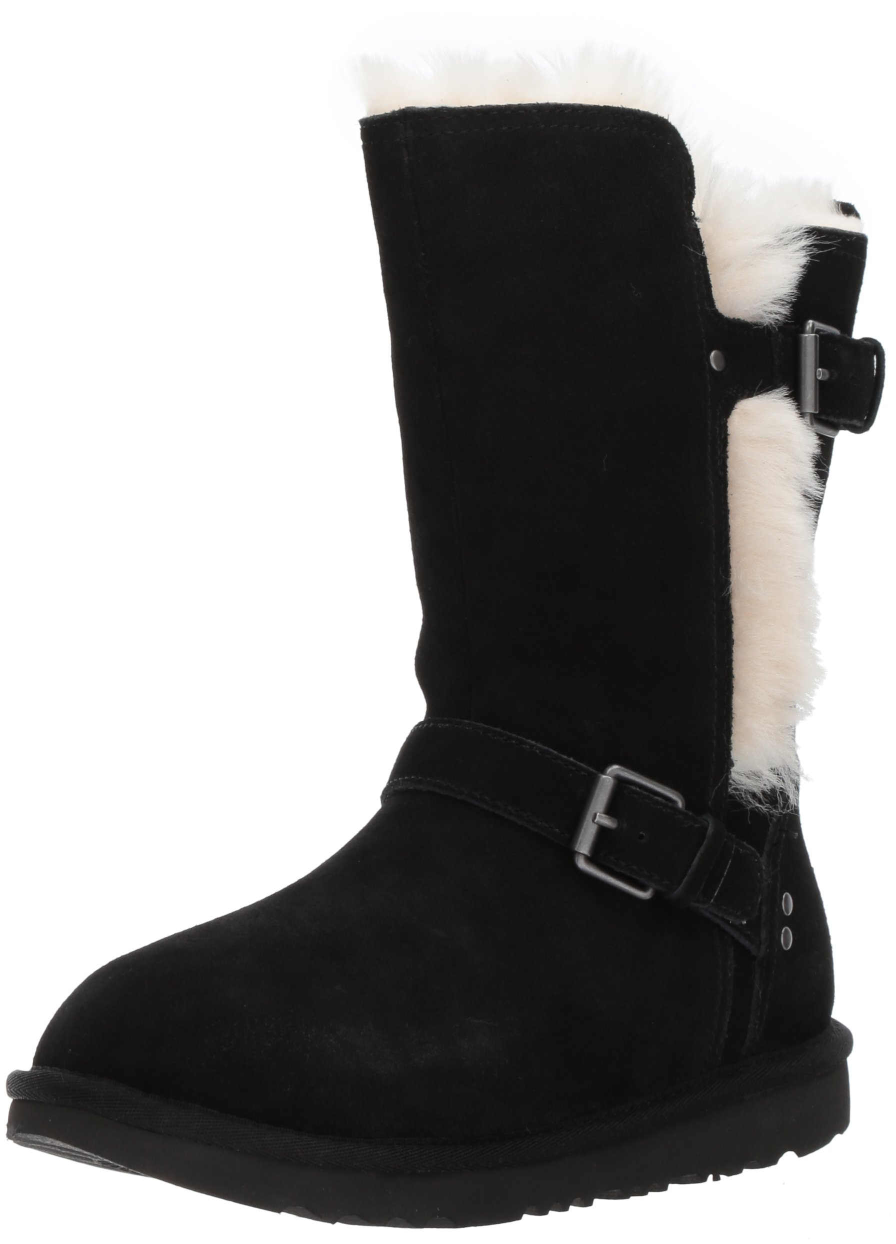 UGG Girls K Magda Boot, Black, 4 M US Big Kid