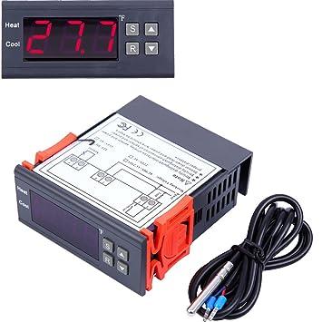Paneltech 10A 12V Termostato Digital Controlador de temperatura digital Control de Temperatura para Fabricación de cerveza