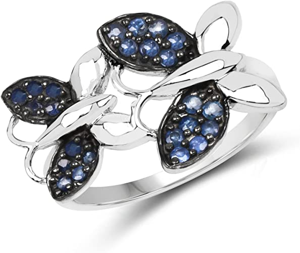 Celtic Claddagh Ring Genuie Sterling Silver 925 Blue Sapphire 9 mm Size 11