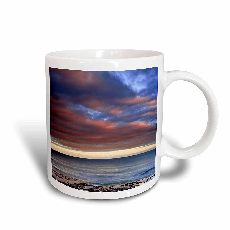 3dRose 97149_2 Wisconsin Sunrise On Shore of Lake Michigan-Us50 Bja0010-Jaynes Gallery Ceramic Mug 15 oz White