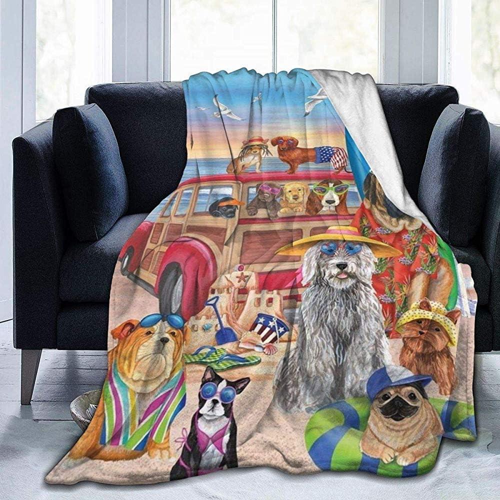 Manta de Forro Polar para Perros con diseño de Castillo de Arena, Manta de Forro Polar Suave y cálida, Manta de Forro Polar, Duradera, Ligera, cómoda Manta de Felpa para ser