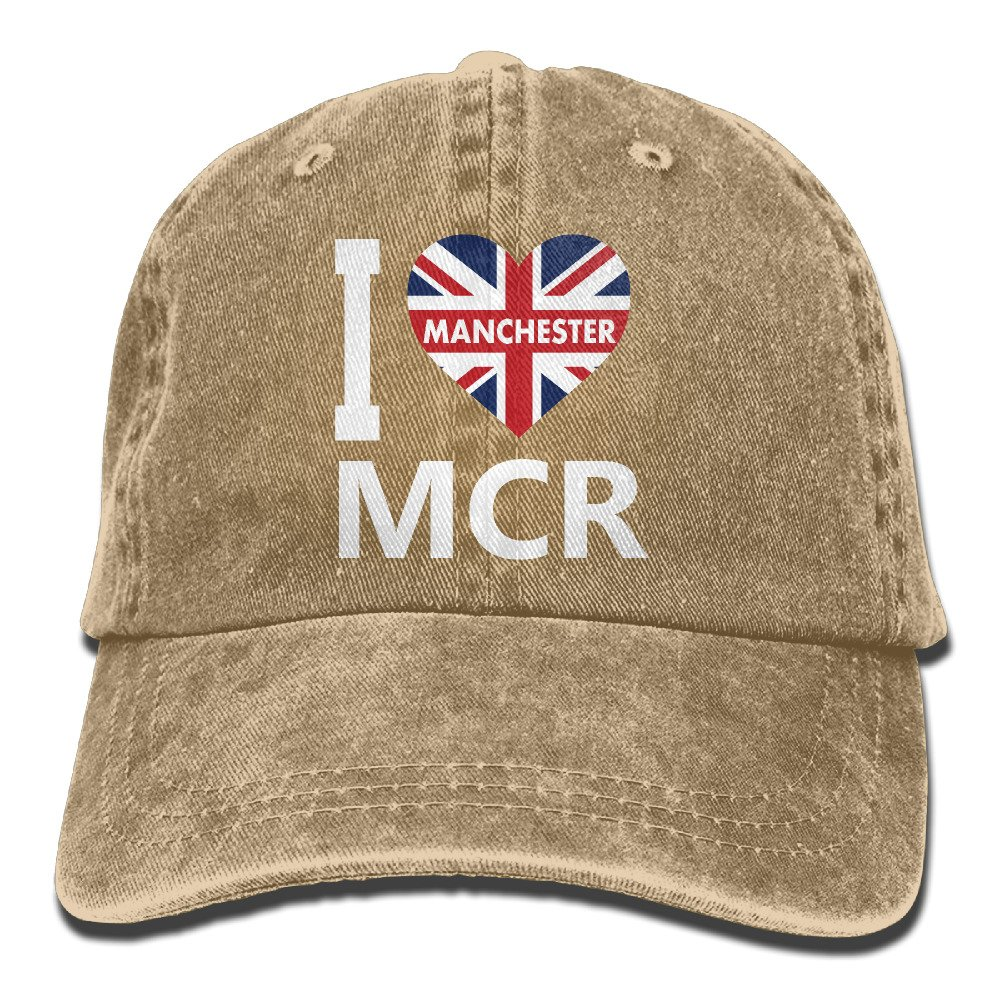 046fa8a8d Amazon.com: I Love MCR Manchester Unisex Cowboy Hat Personalized For ...