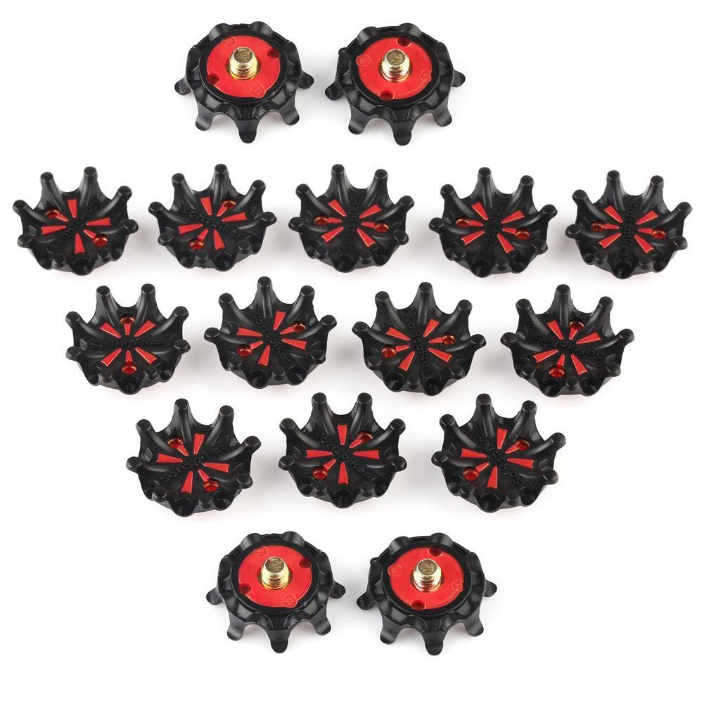 Dark Horse 16pcs Golf Shoe Spikes Champ Spikes Stinger Screw Small Metal Thread For Golf Sports shoes
