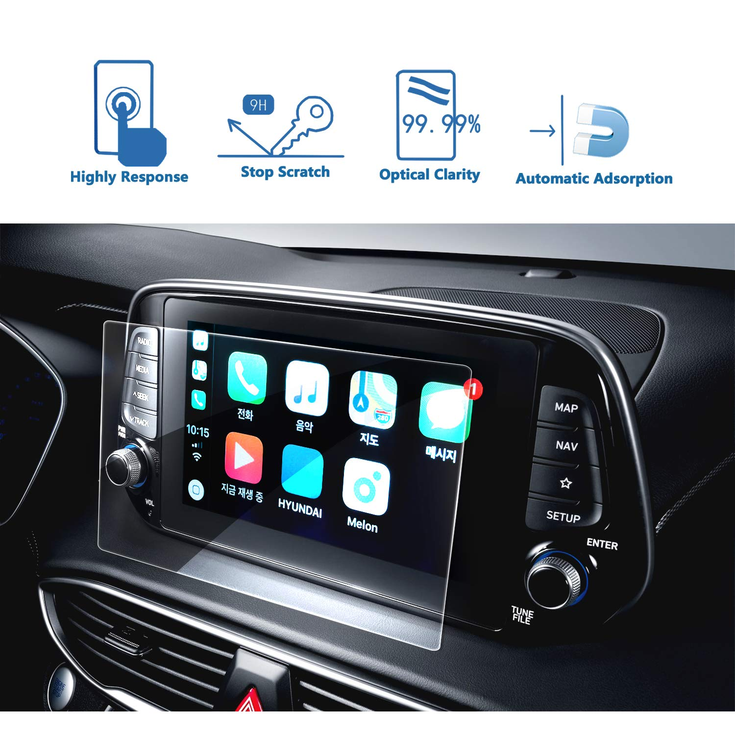 LFOTPP Car Navigation Screen Protector For 2019 Tucson 8In