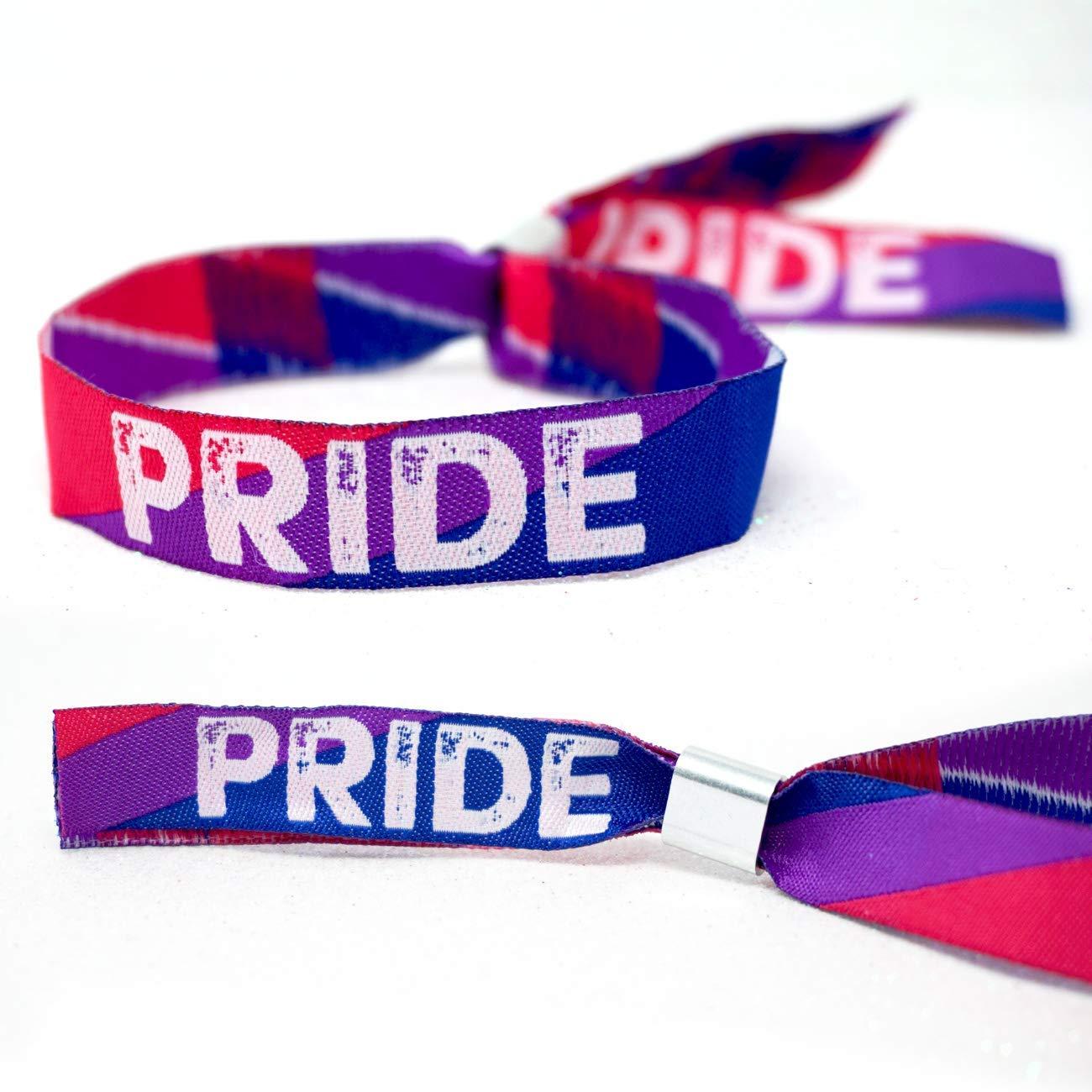 Gay Pride Parade Berlin Accessories Zubeh/ör LGBT LGBTQ Bisexual Pride Wristband Armb/änder ~ Bi Sexual Pride Wristband Armband