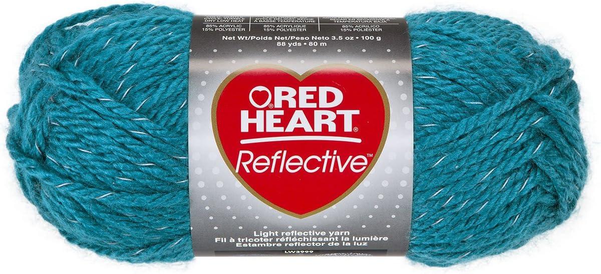 Multicolore Coats Rosso Heart Reflective Yarn Gomitolo di lana 10.89 x 8.98 x 20.41 cm Altro
