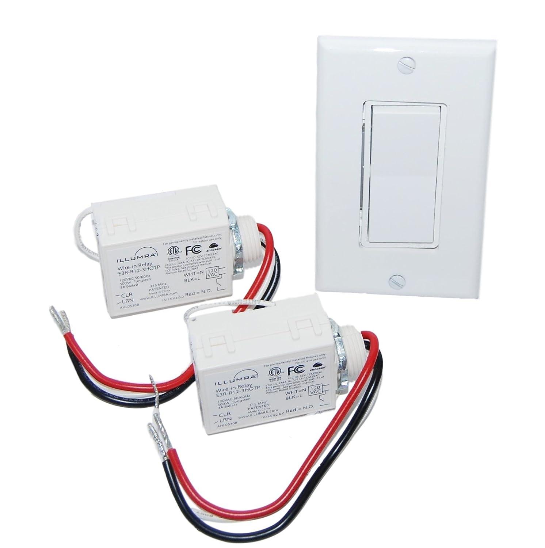 Wireless Light Switch Kit Single Rocker 2 Relays Home Wiring A Battery Free