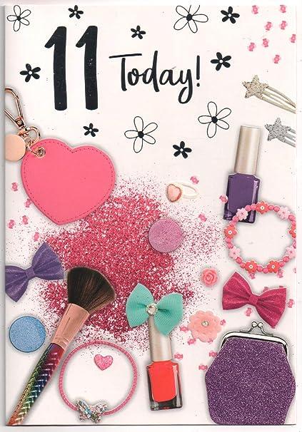 carte anniversaire 11 ans Carte d'anniversaire pour fille de onze (11) ans   Message gratuit