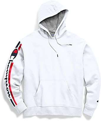 Champion Mens Powerblend Applique Hoodie Hooded Sweatshirt