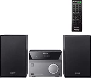 Sony Compact Stereo Sound System for House with Bluetooth Wireless Streaming NFC, Micro Hi-Fi 50W, CD/DVD Player with Separate Speakers, FM Radio, Mega Boost, USB Playback and Charge, Remote Control
