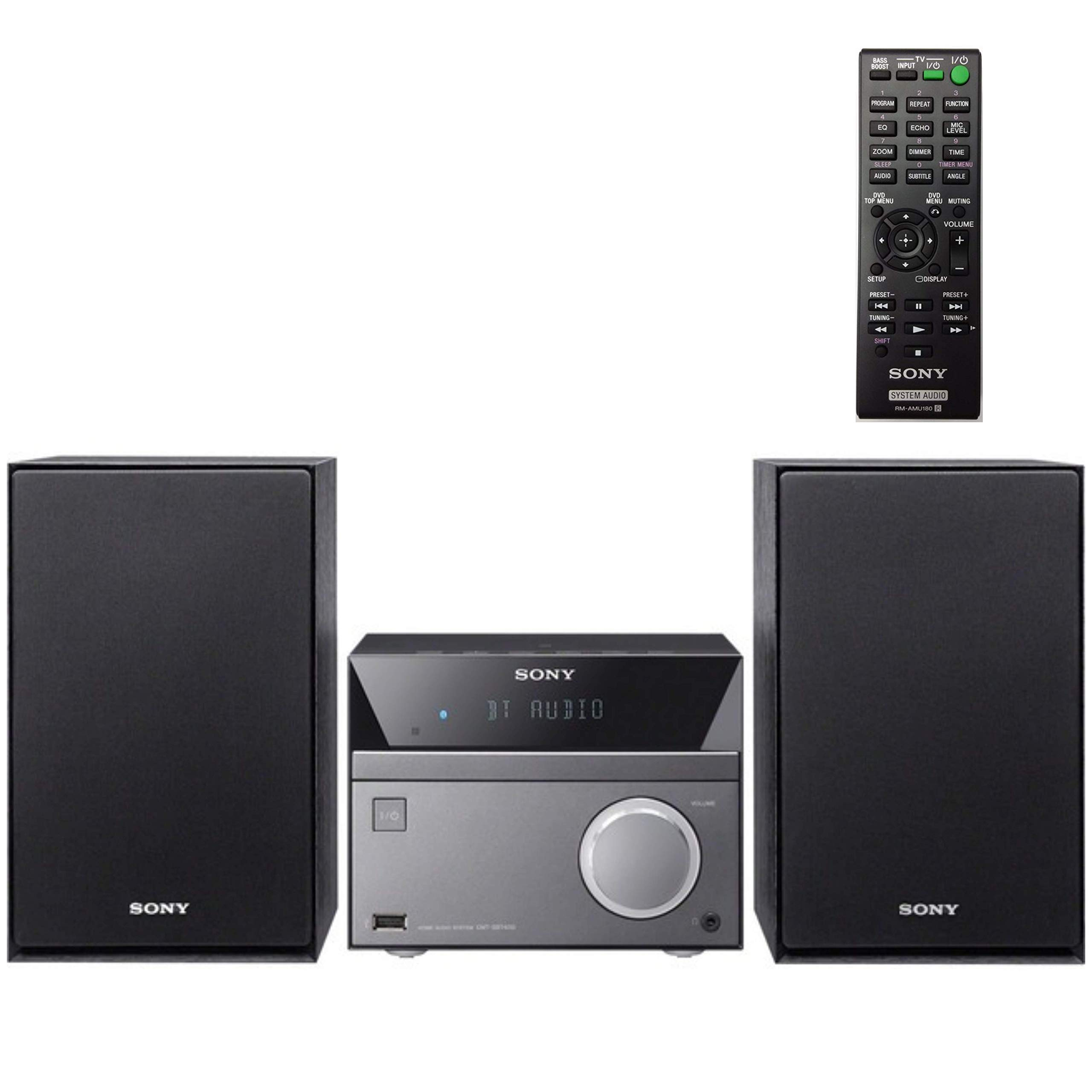 Sony Compact Stereo Sound System for House with Bluetooth Wireless Streaming NFC, Micro Hi-Fi 50W, CD Player with Separate Speakers, AM/FM Radio, Mega Boost, USB Playback and Charge, Remote Control by Sony