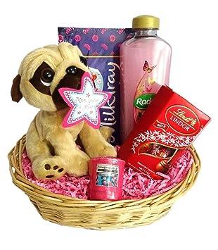 Cesta de Regalo de Día de la madre regalo de cumpleaños Pug ...