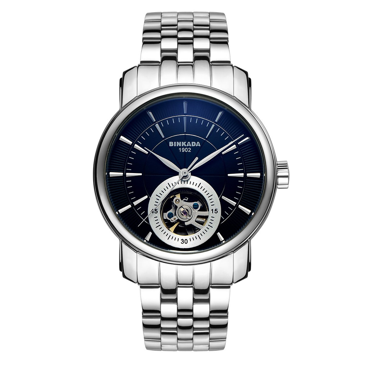 BINKADA 3 Pointer Automatic Mechanical Business Simple Mens Watches