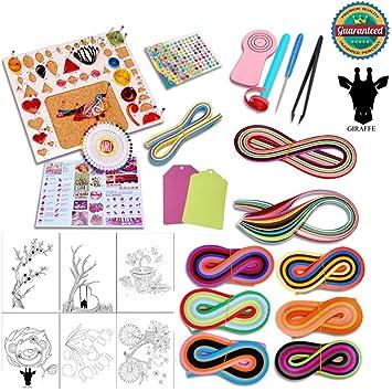 Jirafa 26 en 1 para filigranas de papel DIY Kits con 36 colores Quilling Tiras manualidades papel Junta molde crimpadora: Amazon.es: Juguetes y juegos