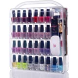 MAKARTT Professional Nail Polish Holder for 60 bottles with Large Separate Compartment for Tools