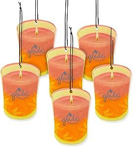 Glade Car Air Freshener 6-PACK Candle Design Glade Air Freshener (Hawaiian Breeze & Vanilla Passion Fruit)