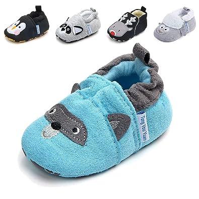 Amazon.com: Zapatillas de dibujos animados, suela suave ...