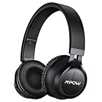 Bluetooth Headphones, Mpow Thor Wireless Headset On Ear, 40mm Driver Wireless Headset Foldable with Mic, Wired and Wireless Headphones for Cell Phone/ TV/ PC - Matte Black