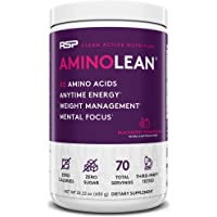 RSP NUTRITION AminoLean - All-in-One Pre Workout, Amino Energy, Weight Management Supplement with Amino Acids, Complete…