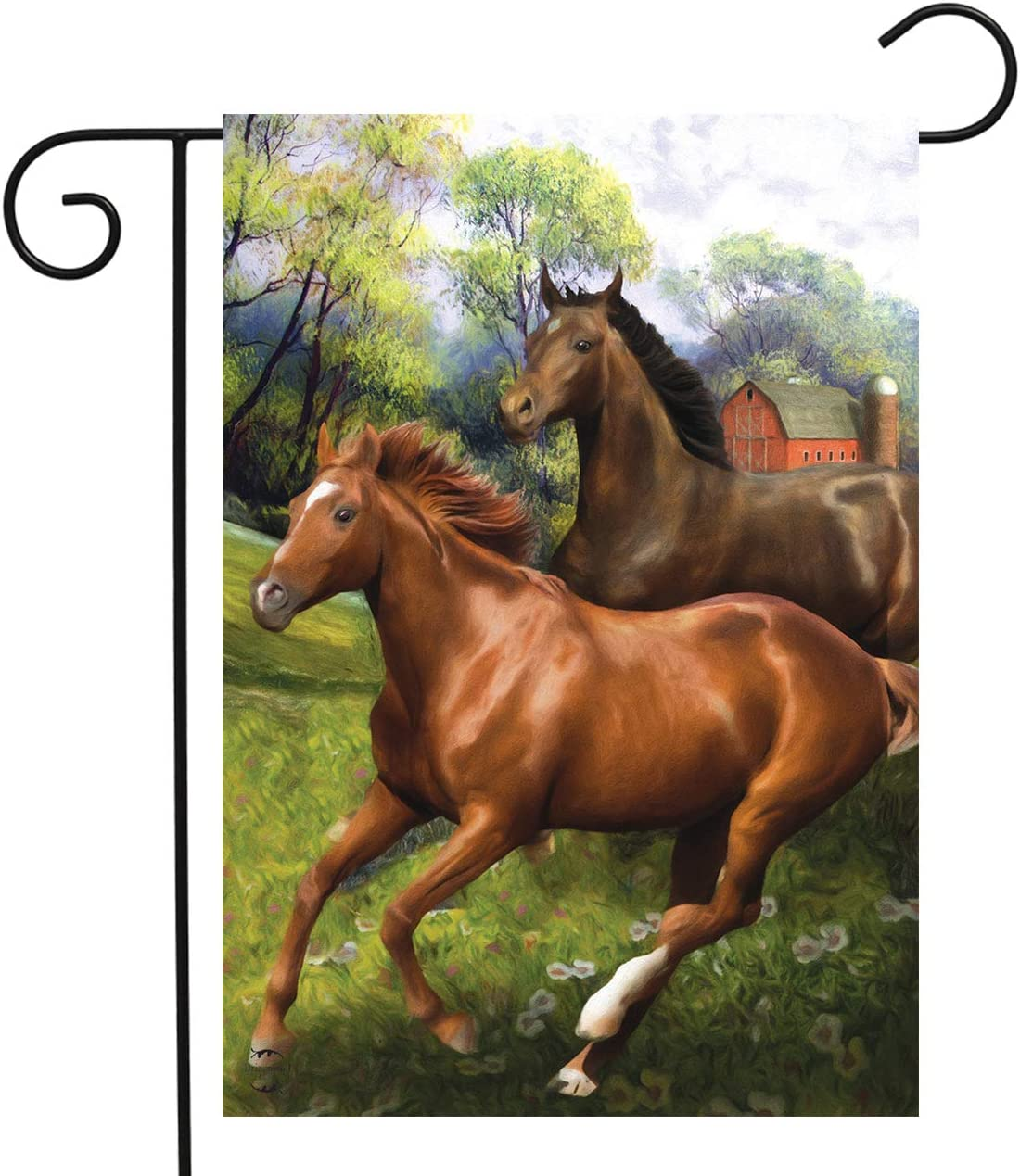 Briarwood Lane Galloping Horses Summer Garden Flag Outdoors Wildlife 12.5