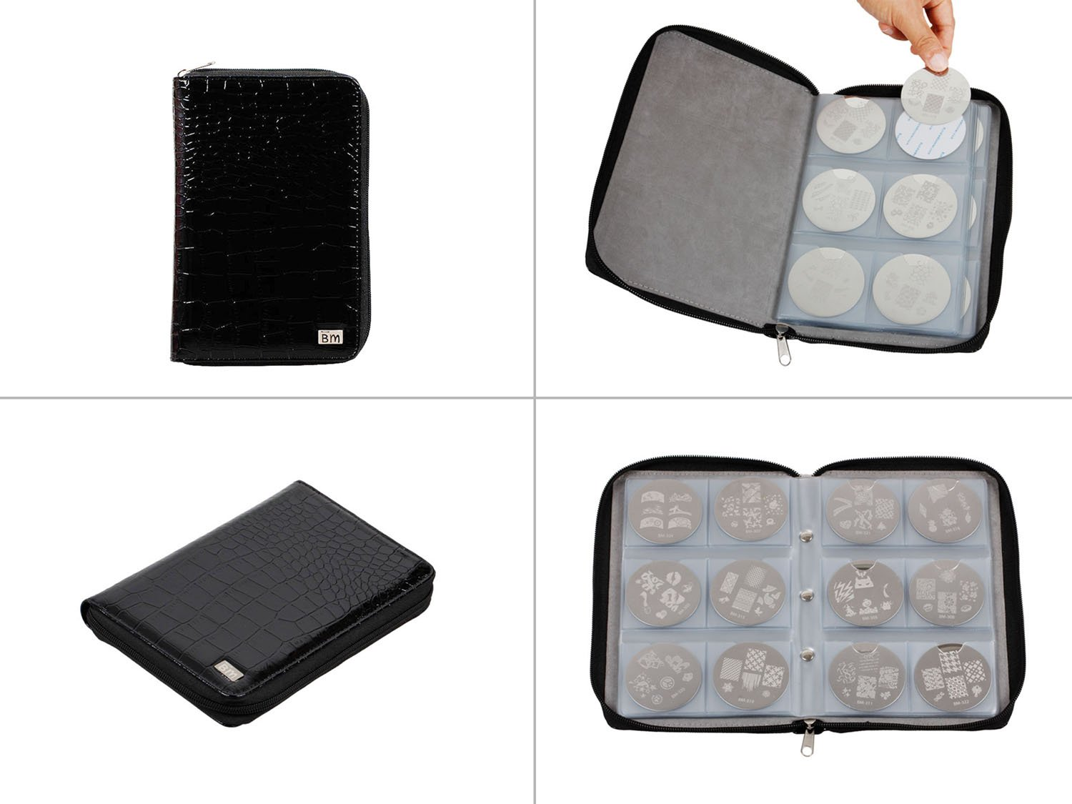 Amazon.com : Nail Art Stamping Kit- 100 Manicure Plate Set with ...