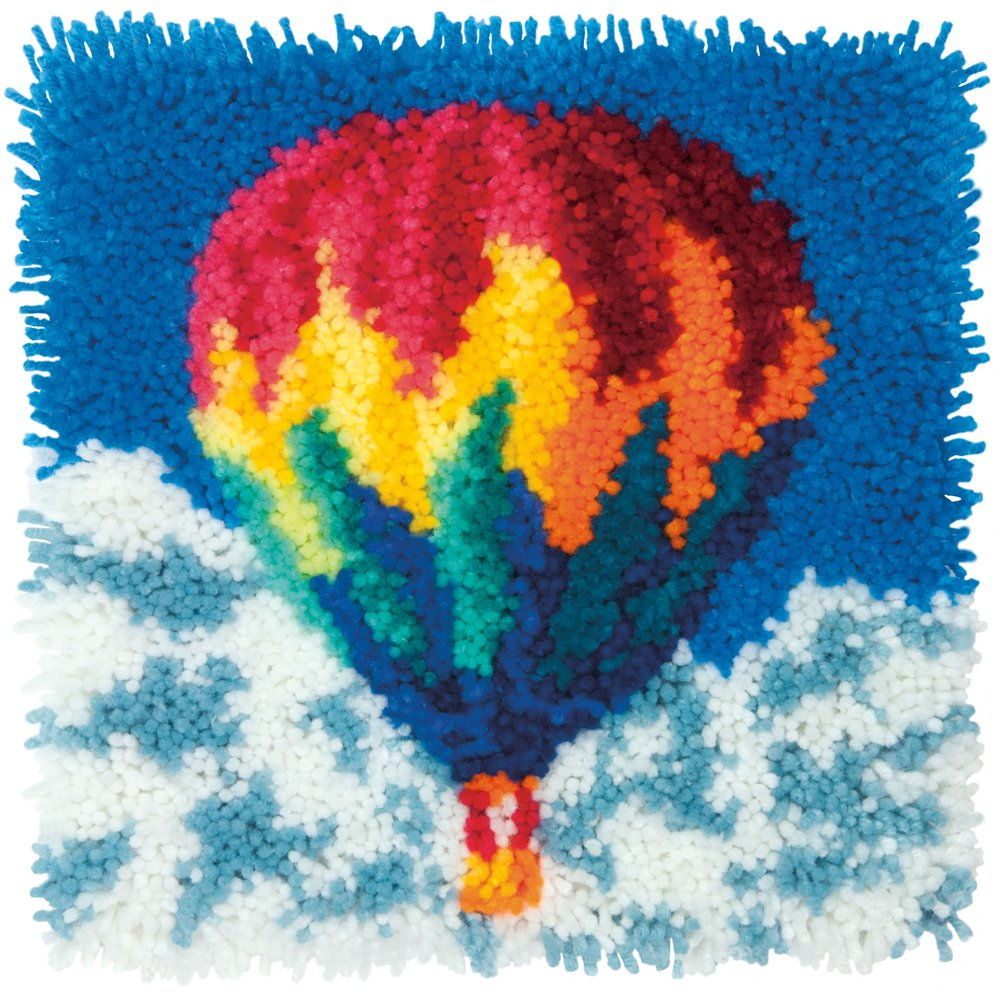 Dimensions Needlecrafts Hot Air Balloon Latch Hook Kit SHENGQI PAPER PRODUCTION LTD 72-75195