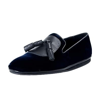 f4cf1a456ea Image Unavailable. Image not available for. Color  Salvatore Ferragamo Men s  Finnegan Velour Leather Loafers Shoes US 7.5M IT 40.5M ...