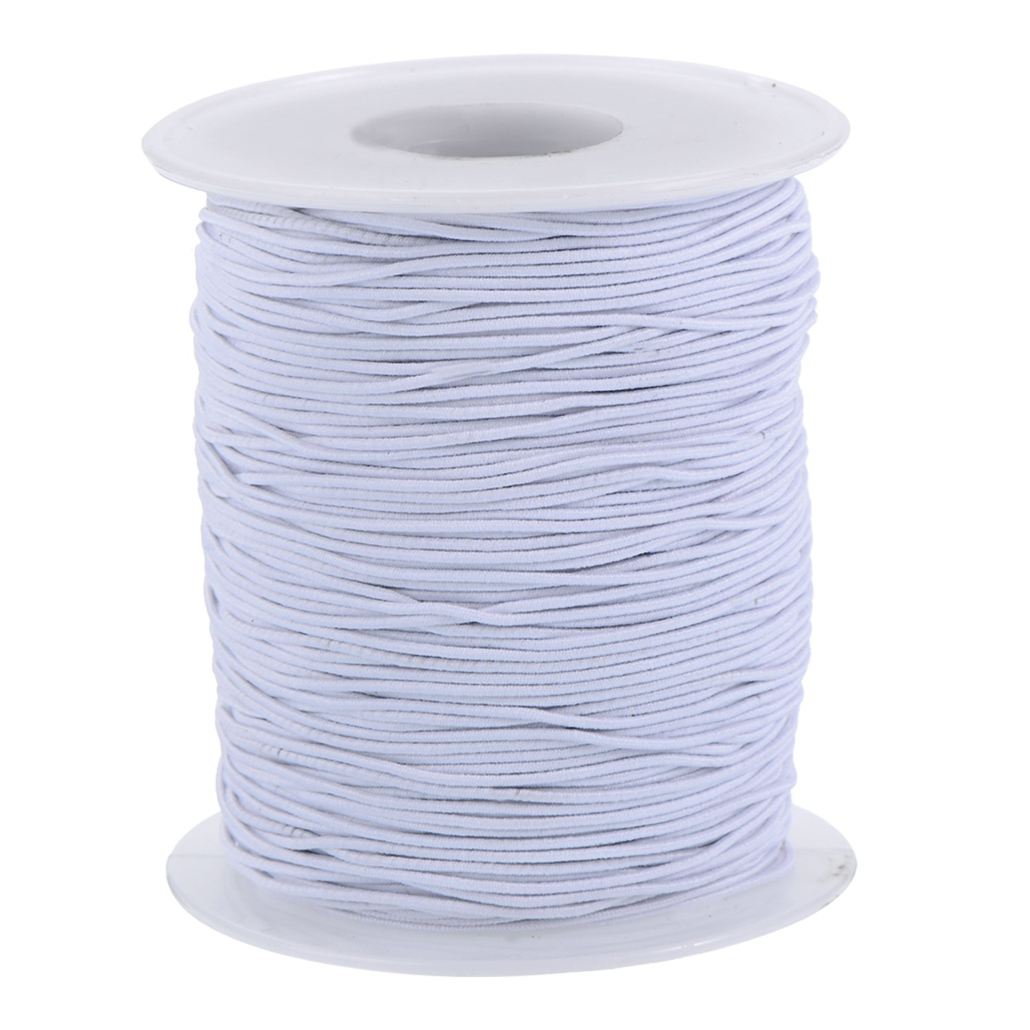 Outus Elastic Cord Stretch Thread Beading Cord Fabric Crafting String, 0.8 mm, White (200 Meters)