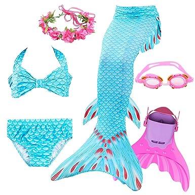 Las Colas de Sirena para Nadar con Aletas de Entrenamiento ...