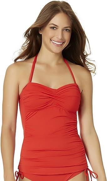 7865ed797b Anne Cole Bandini Swim Top Bright Red X-Small at Amazon Women's ...