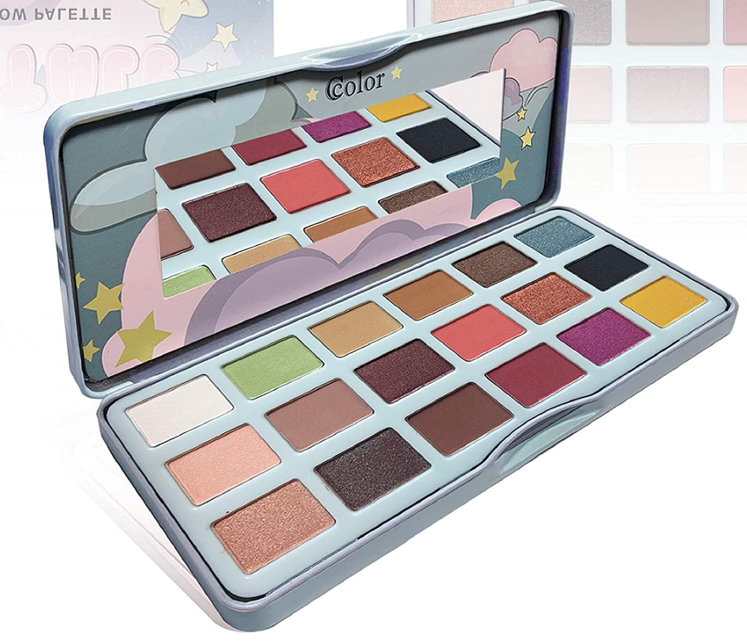 Ccolor Fairy Tale - 18 Color Eyeshadow Palette - Highly Pigmented - Neutral Nudes Bright Colorful Eye Shadows - Makeup Palette