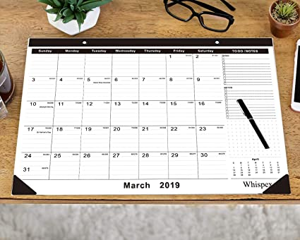 Calendar 2020 February And March.Whispex 2019 2020 Desk Calendar Large Monthly Pages 16 5 X12 Important Day Record Runs From 2019 March To February 2020 Desk Wall Calendar Can