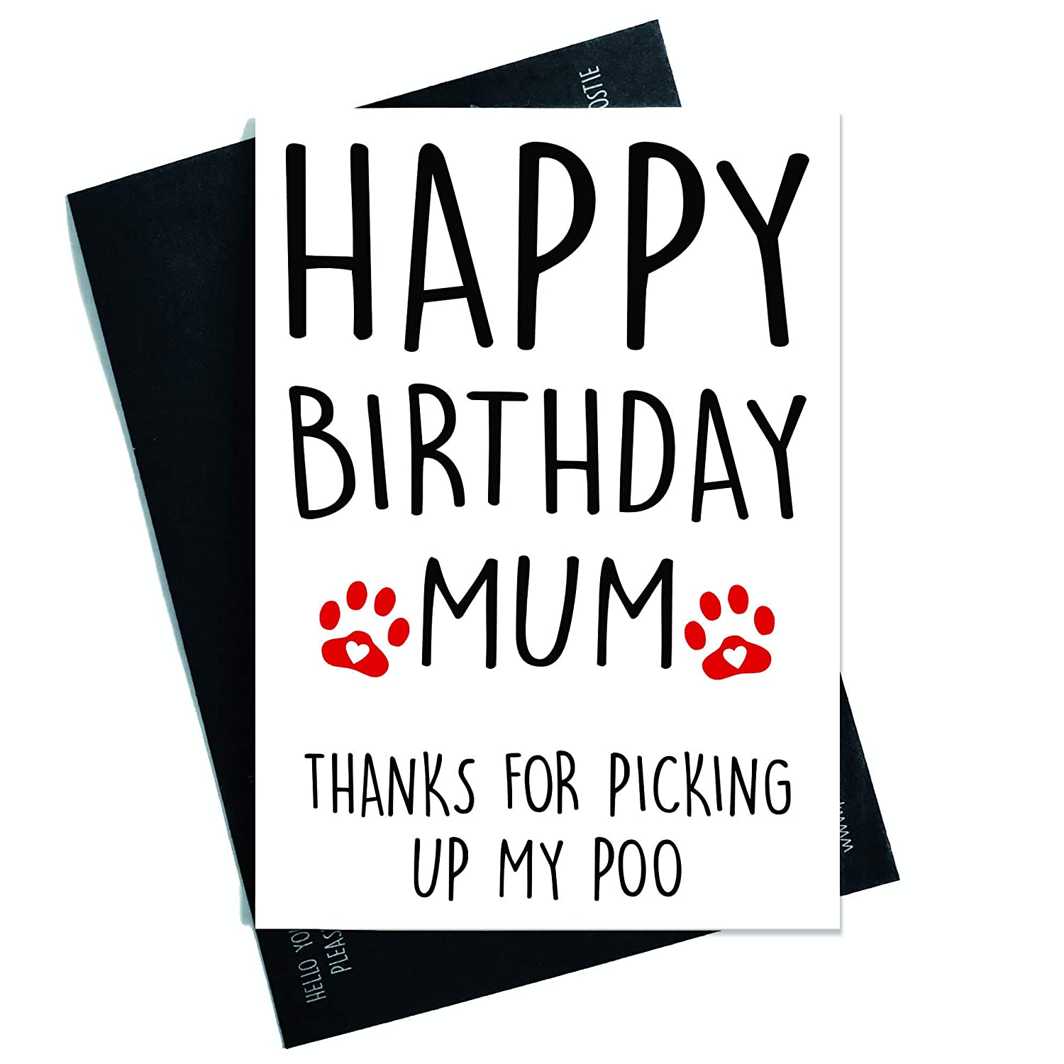Amazon Funny Happy Birthday Card From The Dog For Her