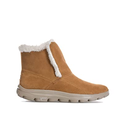 Skechers Womens Womens Go Walk Move Dazzling Boots in Chestnut - UK ... 8fbe3f14af