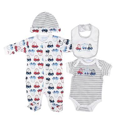 Parure naissance 4 pièces - bébé garçon - blanc (9 mois)