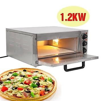 Horno, Horno de la Pizza 1200W en acero inoxidable