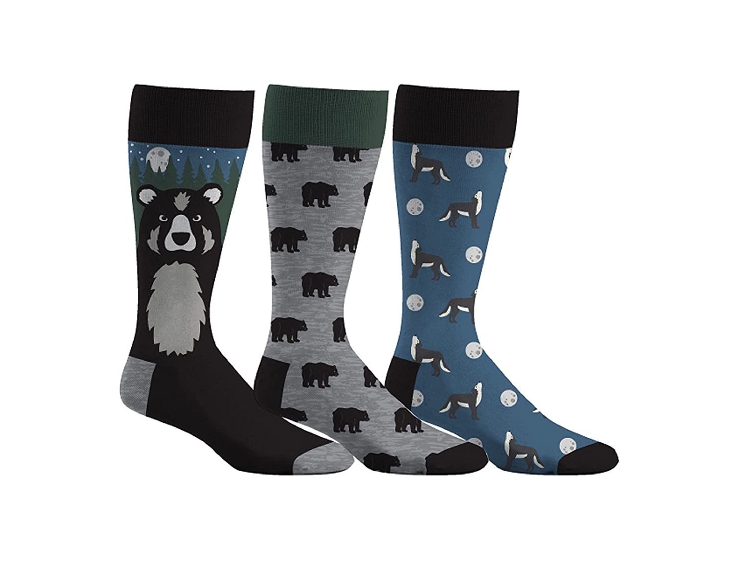 Densley & Co Men's Fun Dress Socks 3-Pack Academy