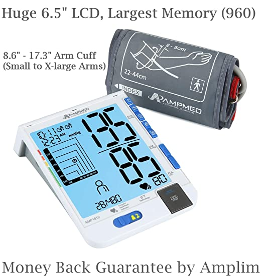 Amazon.com: Amplim Best Fully Automatic Upper Arm Blood Pressure Monitor Plus Universal Cuff (Small – X-Large Arms) IFT Digital Heart Rate & BP Machine.