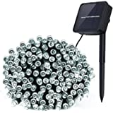 Innoo Tech Outdoor String Lights Solar Powered 200 LED Garden String Lights 8 Moder for Patio, Deck, Proch, Yard, Lawn Christmas Tree Decoration White
