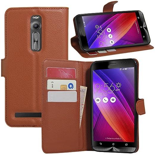 15 opinioni per Asus ZenFone 2, HualuBro [] con [] protezione completa-Custodia a portafoglio in