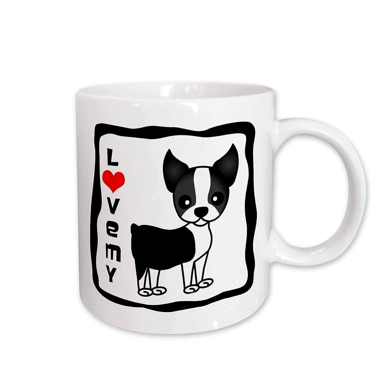 3dRose I Love My Boston Terrier Ceramic Mug 15-Ounce